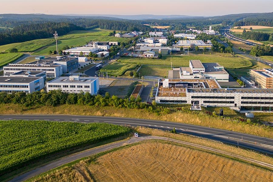 Luftansicht 2 Gewerbegebiet Wolfsbach Nord