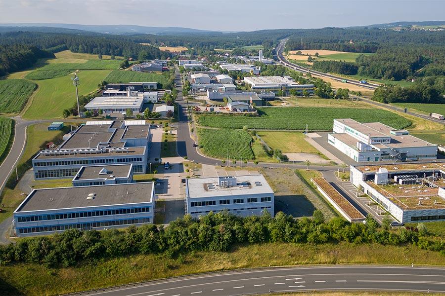 Luftansicht Gewerbegebiet Wolfsbach Nord